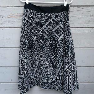 Banana Republic Geo lace cutout midi skirt
